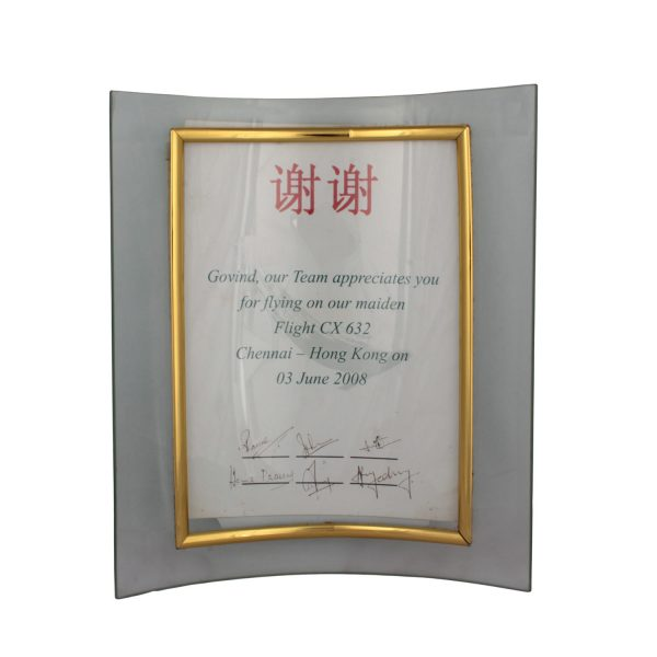 Award from Cathay Pacific airlines -2007