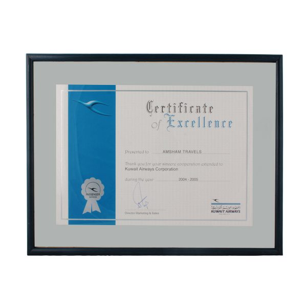 Excellence Certificate from Kuwait Airways_2004-2005